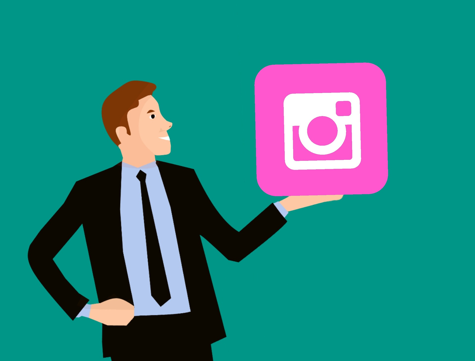 A professional with Instagram Ads logo